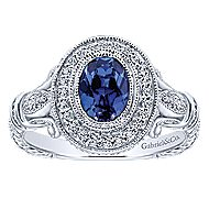 14k White Gold Victorian Fashion Ladies' Ring angle 4