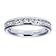 14k White Gold Victorian Straight Anniversary Band angle 5