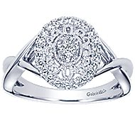 14k White Gold Victorian Twisted Ladies' Ring angle 5