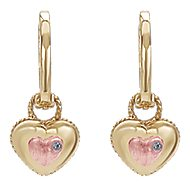 14k Yellow And Rose Gold Secret Garden Drop Earrings angle 1