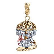 14k Yellow And White And Rose Gold Boca Charms Charm Pendant