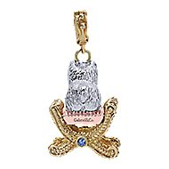 14k Yellow And White And Rose Gold Victorian Charm Pendant