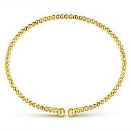 14k Yellow And White Gold Bujukan Bangle angle 3