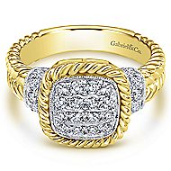 14k Yellow And White Gold Hampton Fashion Ladies' Ring angle 1
