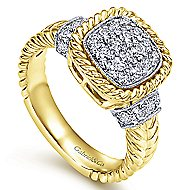 14k Yellow And White Gold Hampton Fashion Ladies' Ring angle 3
