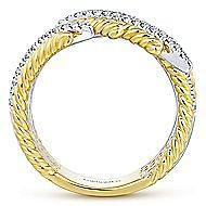 14k Yellow And White Gold Hampton Fashion Ladies' Ring angle 2