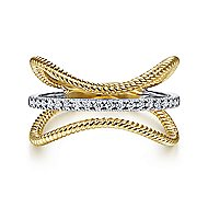 14k Yellow And White Gold Hampton Fashion Ladies Ring