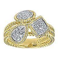 14k Yellow And White Gold Hampton Fashion Ladies' Ring angle 4