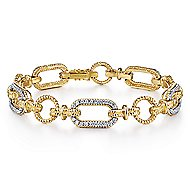 14k Yellow And White Gold Hampton Tennis Bracelet angle 1