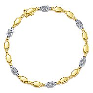 14k Yellow And White Gold Lusso Tennis Bracelet