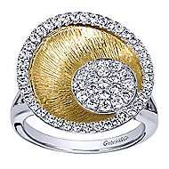 14k Yellow And White Gold Souviens Fashion Ladies' Ring angle 5