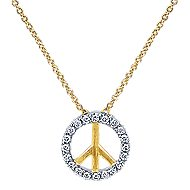 14k Yellow And White Gold Trends Fashion Necklace angle 1