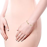 14k Yellow Gold Bujukan Bangle angle 4