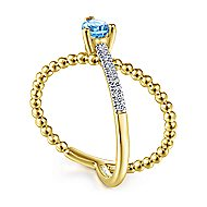 14k Yellow Gold Bujukan Fashion Ladies Ring