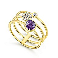 14k Yellow Gold Constellations Fashion Ladies Ring
