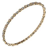 14k Yellow Gold Contemporary Bangle