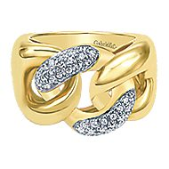 14k Yellow Gold Contemporary Fashion Ladies' Ring angle 1