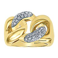 14k Yellow Gold Contemporary Fashion Ladies' Ring angle 4
