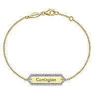 14k Yellow Gold Contemporary Tennis Bracelet
