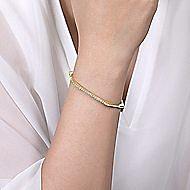 14k Yellow Gold Demure Bangles Bangle angle 4