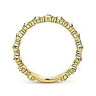 14k Yellow Gold Diamond Cross Stackable Ladies' Ring