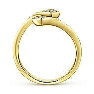 14k Yellow Gold Diamond Midi Ladies Ring