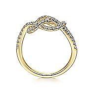 14k Yellow Gold Eternal Love Fashion Ladies' Ring angle 2