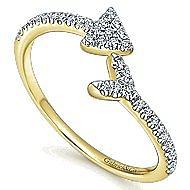 14k Yellow Gold Eternal Love Fashion Ladies' Ring angle 3