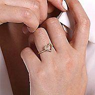 14k Yellow Gold Eternal Love Fashion Ladies Ring