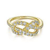 14k Yellow Gold Eternal Love Fashion Ladies' Ring angle 1