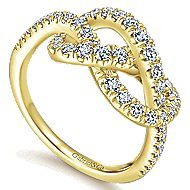 14k Yellow Gold Eternal Love Fashion Ladies' Ring angle 3