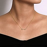 14k Yellow Gold Eternal Love Fashion Necklace angle 3