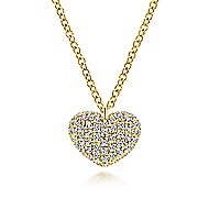 14k Yellow Gold Eternal Love Heart Necklace angle 1