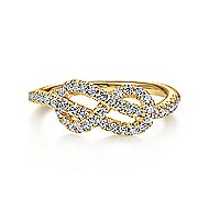14k Yellow Gold Eternal Love Twisted Ladies' Ring angle 1