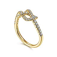 14k Yellow Gold Eternal Love Twisted Ladies Ring