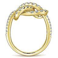 14k Yellow Gold Eternal Love Twisted Ladies' Ring angle 2