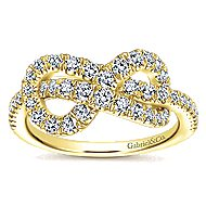 14k Yellow Gold Eternal Love Twisted Ladies' Ring angle 4