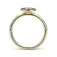 14k Yellow Gold Faith Evil Eye Ladies Ring
