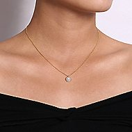 14k Yellow Gold Grace Fashion Necklace angle 3