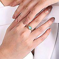 14k Yellow Gold Hampton Fashion Ladies Ring