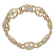 14k Yellow Gold Hampton Tennis Bracelet angle 1