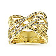 14k Yellow Gold Hampton Twisted Ladies' Ring angle 4