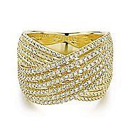 14k Yellow Gold Hampton Wide Band Ladies' Ring angle 1