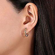 14k Yellow Gold Huggie Earrings