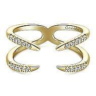 14k Yellow Gold Kaslique Fashion Ladies Ring