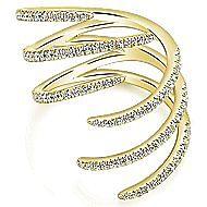 14k Yellow Gold Kaslique Statement Ladies Ring