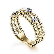 14k Yellow Gold Ladies Ring