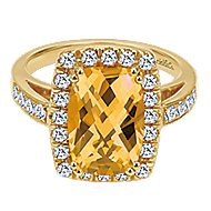 14k Yellow Gold Lusso Color Classic Ladies Ring