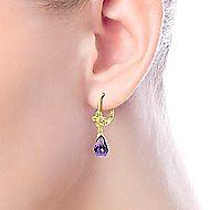 14k Yellow Gold Lusso Color Drop Earrings