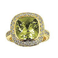 14k Yellow Gold Lusso Color Fashion Ladies' Ring angle 1